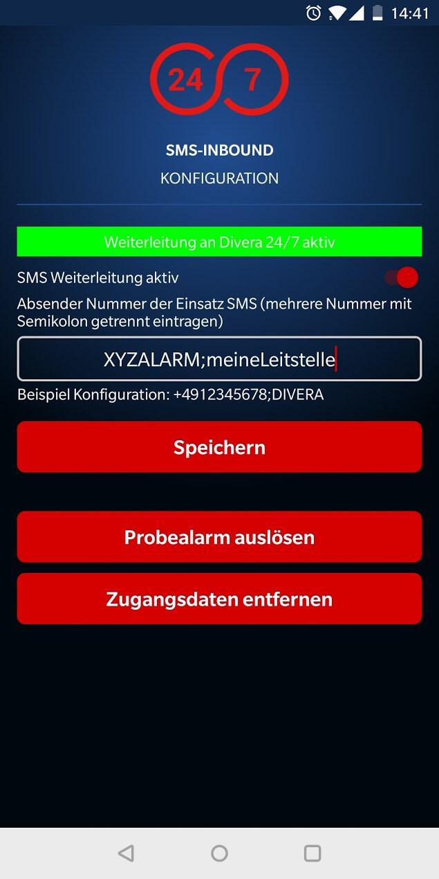 SMS-Inbound zur Auslösung von Alarmierungen mit DIEVERA 247