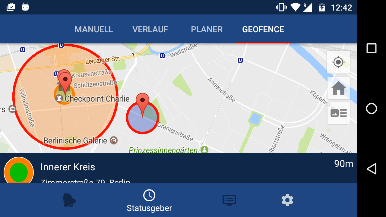 Geofence im Beta-Test