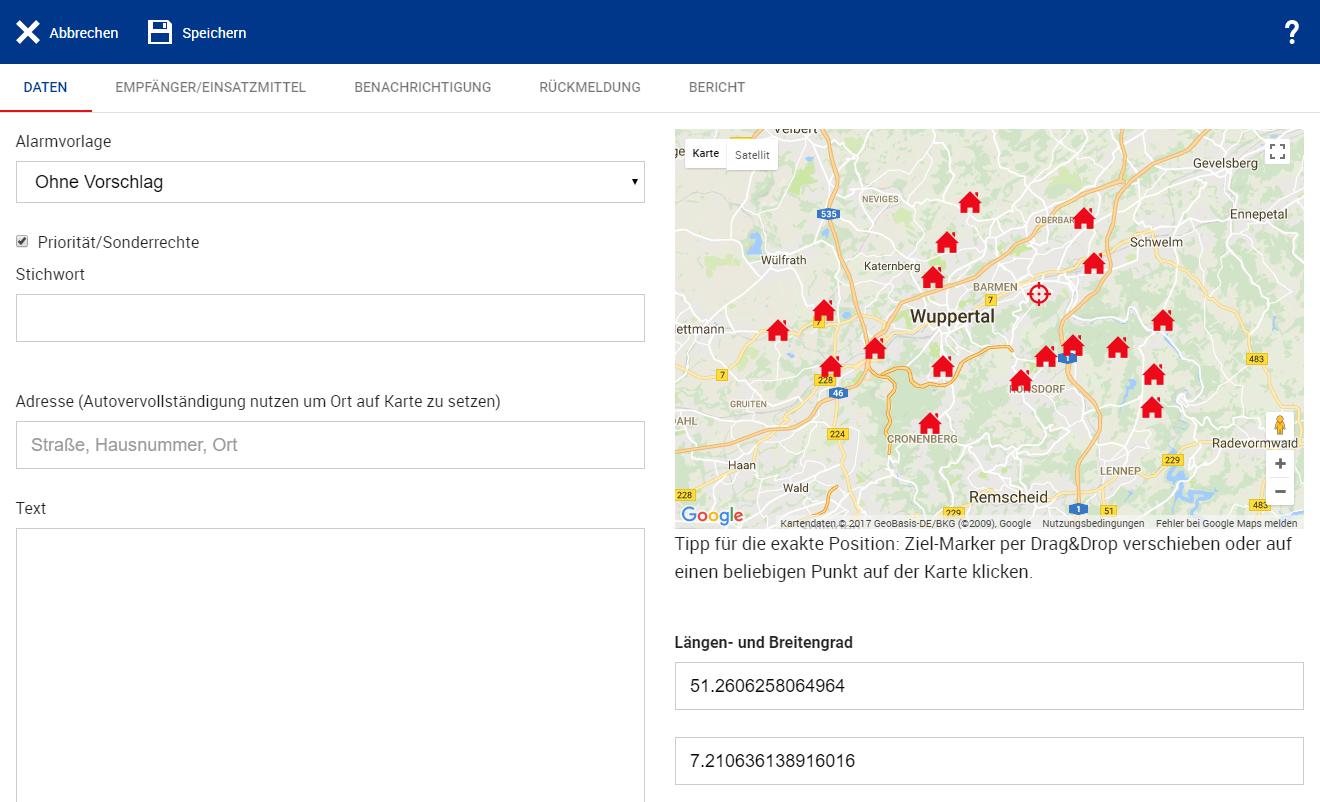 Neue Funktionen für das Alarmierungssystem. DIVERA 24/7 zeigt die Standorte aller Wachen auf der Karte an und gibt einen guten Überblick, welcher Löschzug am nächsten zur Einsatzstelle gelegen ist.