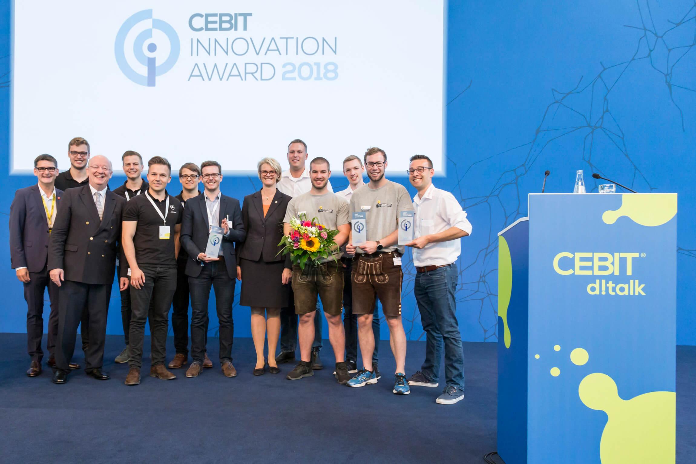 Preisträger des CEBIT Award 2018.
