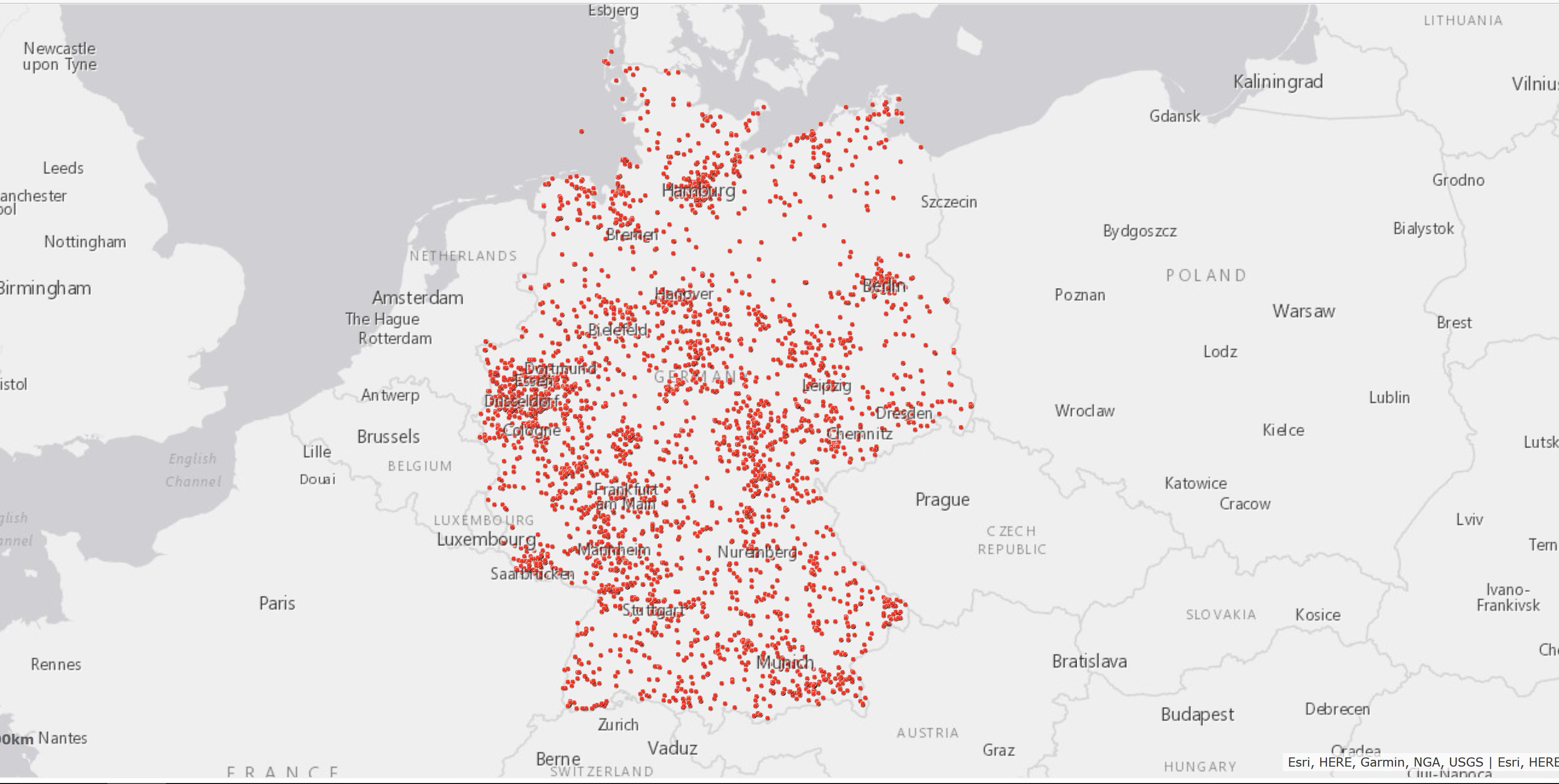 Bild: Verbreitung der App DIVERA 24/7 bei Freiwilligen Feuerwehren und Hilfsorganisationen in Deutschland