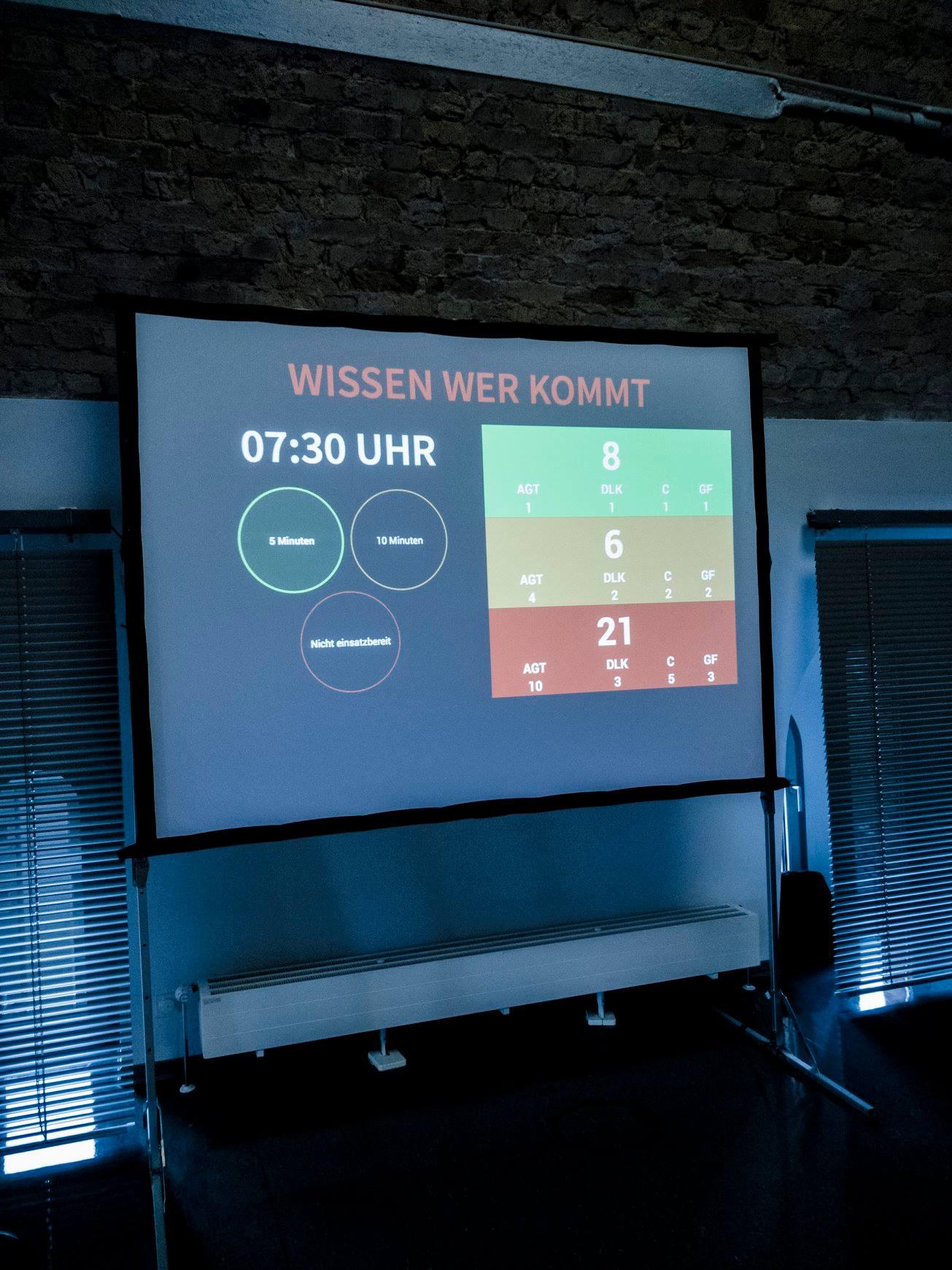 Dr. Bernhard Horst präsentiert der Jury das Verfügbarkeitssystem und die sich daraus ergebenden Chancen für den Bevölkerung und die Einbindung ehrenamtlicher Einsatzkräfte