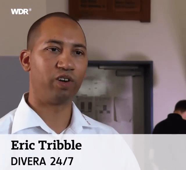 Geschäftsführer Eric Tribble schildert die Vorteile des Verfügbarkeitssystem im Einsatzalltag der Freiwilligen Feuerwehr